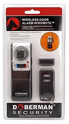 Wireless Door Alarm Remote Control for Home Security Product as Seen on TV (Doberman Door Alarm With Remote)