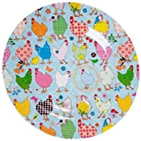 Rice Melamine Side Plate Two Tone Hen Print