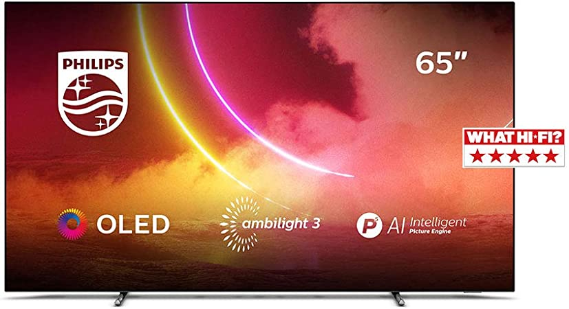Philips Ambilight 65OLED805/12 65-Inch OLED TV (4K UHD, P5 AI