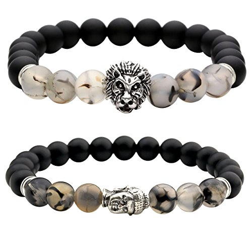 JOVIVI Silver Plated Buddha Bracelet