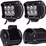 led bar light for polaris ranger - TURBOSII 4Pcs 4Inch Spot Beam 18W Led Work Light Bar Pods Cube Driving Fog Lights For Ford Jeep Toyota Polaris RZR Ranger Can Am Boat Offroad 4wd Truck Pickup SUV Van ATV UTV Tractor Lamp 12-24V