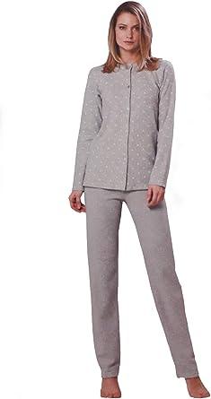 AMICA Pijama abierto de mujer 92A815 Punto Milano perla 46 ...