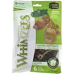 Whimzees WHZ307 6 Count Alligator Value Bag Doggie Dental Chews, Large 12.7 oz