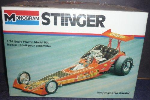 Stinger Rear (#2809 Monogram Stinger Rear Engine Rail Dragster 1/24 Scale Plastic Model Kit)