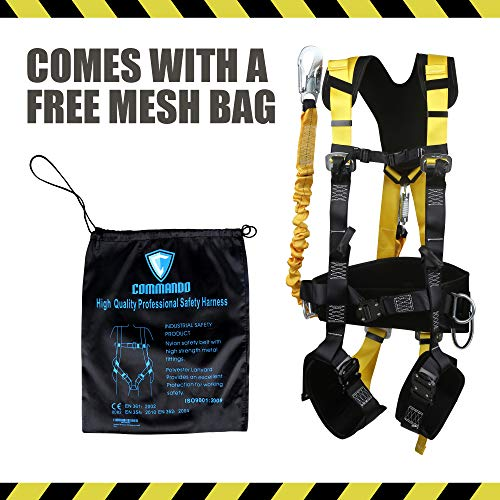 Commando Fall Protect Full-Body Safety Harness with Lanyard (ANSI and OSHA Compliant) by commando (Image #6)