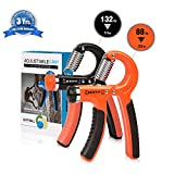 AYDN 2 Pack Different Resistance(22-88 Lbs/11-132 Lbs) Hand Grip Strengthener Adjustable Strength Trainer for Men Forearm Grip Workout Non-Slip Gripper for Athletes Rock Climbers Kids etc Review