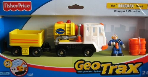 - Geo Trax Lights & Sounds Vehicle w Chugger & Chandler