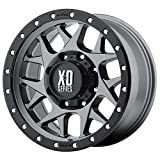 XD Series by KMC Wheels XD127 Bully Matte Gray Wheel with Black Ring (20x9''/5x150mm, +25mm offset)