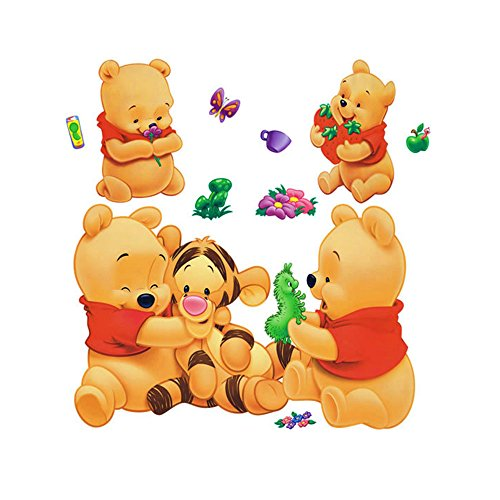 Gadfly- Winnie the Pooh and Tigger Stick Nursery/baby Wall Sticker Decal (Baby Tigger)