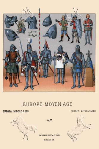 Art Poster, An Assortment of Medieval Armor, c.1350-1460 - 18.75 x 27.5