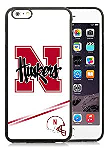 iPhone 6 Plus Case,2015 Hot New Fashion Stylish Ncaa Big Ten Conference Football Nebraska Cornhuskers 10 Black TPU Case Cover for iPhone 6 Plus (5.5)