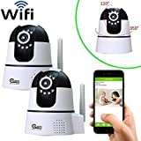 Coolcam HD 720P 2-Pack WiFi IP Network Camera, Wireless, Video Monitoring, Surveillance, Security Camera, Plug/Play, Pan/Tilt with 2-Way Audio and Night Vision IR Camera