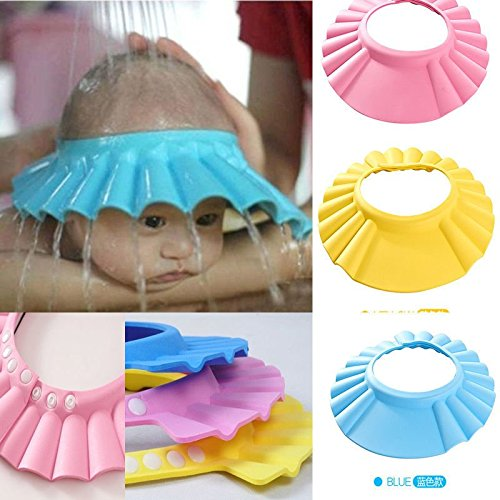 HOME CUBE 1 Pc Safe Shampoo Shower Bathing Protect Soft Cap Hat for Baby