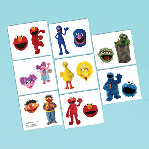 P. City Sesame Street Party Tattoos -