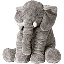 Ikea JATTESTOR 202.980.33 Soft Toy, Elephant, Grey, 23.5 Inch, Stuffed Animal Plush
