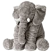 Ikea JATTESTOR 202.980.33 Soft Toy, Elephant, Grey, 23.5 Inch, Stuffed Animal Plush
