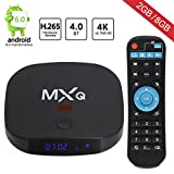 2017 New Upgrade Model Leelbox MXQ MINI Android TV Box cortex-A7 android 6.0 Quad-Core CPU 2GB RAM/8GB ROM 64 Bits Quad Core and Supporting Full BT4.0/4K HDMI /H.265 /WiFi 2.4GHz