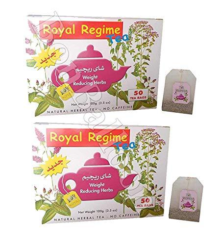 ght Reducing Slimming Herbs Loss Diet 50-300 Tea Bags 384 (Royal Regime 100 Bag) ()