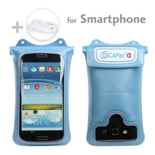 DiCAPac WP-C1 wasserdichtes Smartphone Case für viele Smartphones wie HTC EVO 4G / HTC One / Samsung Galaxy S2 , S3 / Motorola Defy / Samsung Galaxy Nexus / LG Optimus uvm. (Farbe blau)