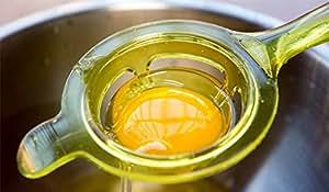 New design high-quality colorful hard silicon egg white separator egg yolk separator separates spoon