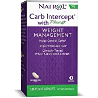 Natrol White Kidney Bean Carb Intercept Capsules with Phase 2 Starch Neutralizer, 120 Count