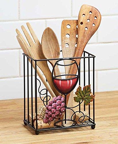 Vineyard Vino de uva Toscana decoración de soporte de utensilios ...