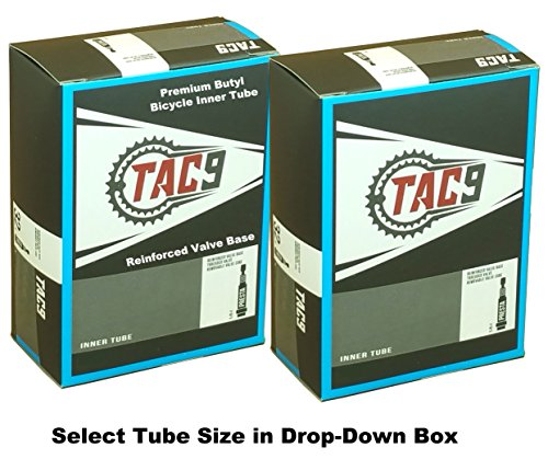 TAC 9 Tube, 700c x 18-23, Presta Valve, 32, 48, 60 or 80mm Valve Length. Select Valve Length Size and 1 Pack or 2 Pack Money Saver, Tubes for Bicycles