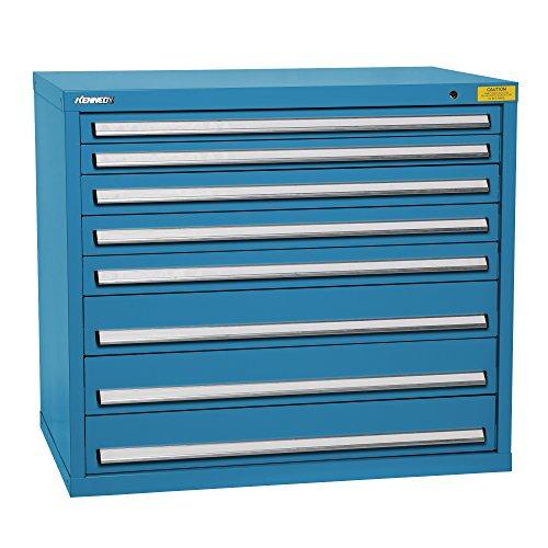 - Kennedy Manufacturing 7428UB Wide-Standard HDS 8-Drawer Countertop High Cabinet, Supply Room Storage Workstation Work Bank, Blue