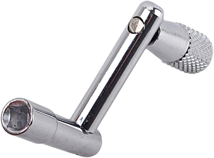 Silver ARTIBETTER Drum Key Heavy Duty Metal Z Shape Drum Speed Key Wrench Spinner Percussion Accessories for Drummer