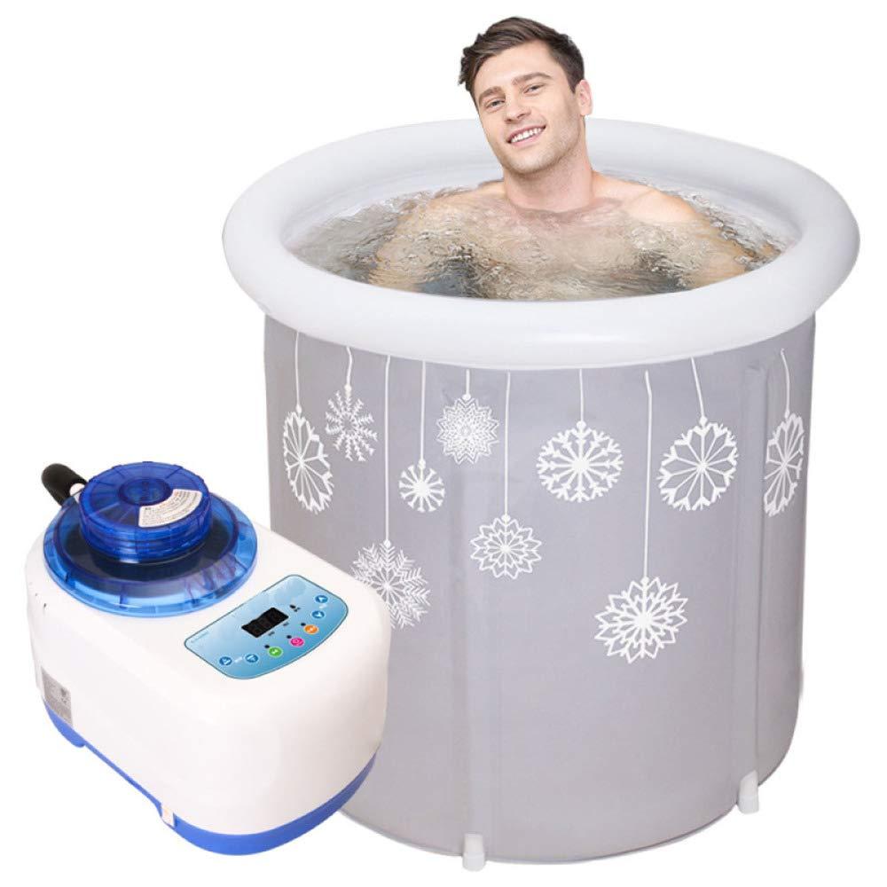 Grey 75x80cm WU LAI Portable Bathtub Adult Spa Bathtub PVC Folding Bathtub Inflatable Bathtub Home Swimming Pool,Grey-75x80cm