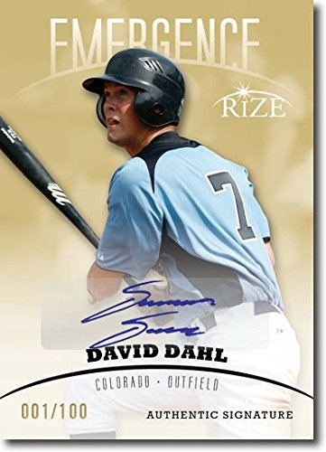 DAVID DAHL 2012 Rize Rookie Autograph GOLD Auto EMERGENCE RC #/100 by Rize