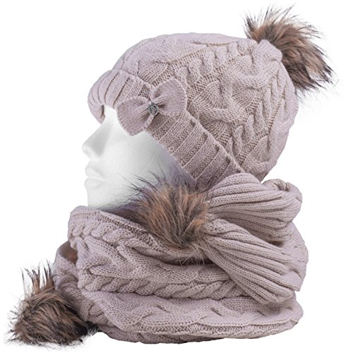 Thor Womens Beanies (Thor Steinar Women's W Set Beanie/ Scarf Fraena Knit Winter Hat German Style)
