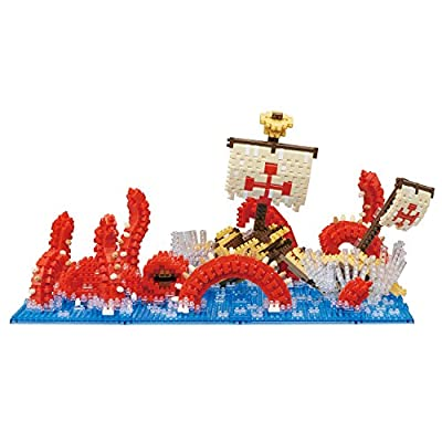 Nanoblock Kraken Attack Building Kit, Blue: Toys & Games