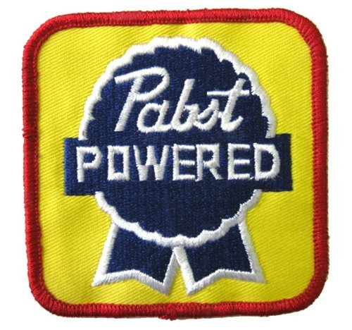 Pabst Powered Patch Iron On Beer, used for sale  Delivered anywhere in USA