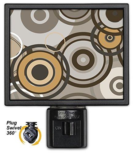 Art Plates NL-830 Mocha Circles Night Light