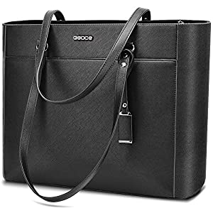 """Handbags Up To 15.6 """" Laptop For Women,OSOCE Office Bags Briefcase,Laptop Tote Case For Women With Charm"""