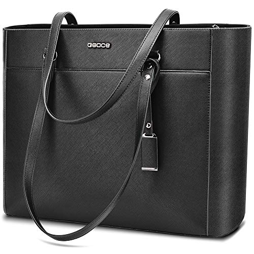 Handbags Up To 15.6 '' Laptop For Women,OSOCE Office Bags Briefcase,Laptop Tote Case For Women With Charm