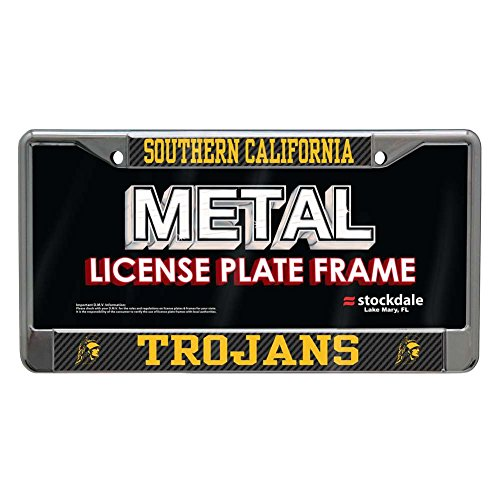USC Trojans Metal License Plate Frame - Carbon Fiber (Usc Metal)
