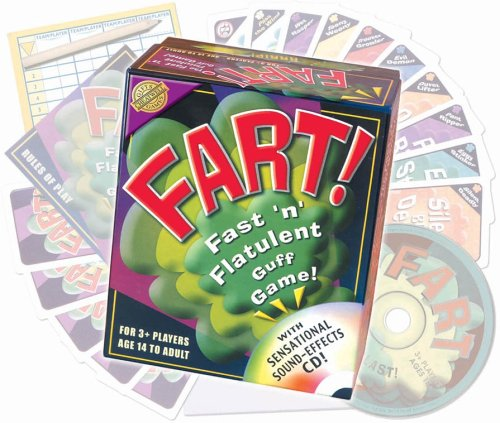 FART! Fast 'n' Flatulent Card Game with Sensational Sound Effects by Outset Media