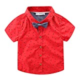 LittleSpring Little Boys' Shirts Stars Tie Size 3T Style-B