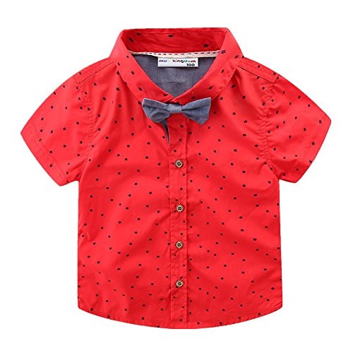 LittleSpring Little Boys' Shirts Stars Tie Size 3T Style-B by LittleSpring