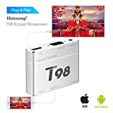 Screen Mirroring,T98 EZcast USB to HD Converter S8 Pro Plug&Play HD/VGA Converter for iPhone/ Android Silver
