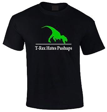 1fd3a108 Amazon.com: T-Rex Hates Pushups T-shirt: Clothing