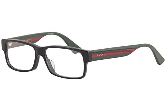 2575d779c2 Image Unavailable. Image not available for. Color  Gucci GG0344OA Eyeglasses  001 Black Multicolor 56 mm