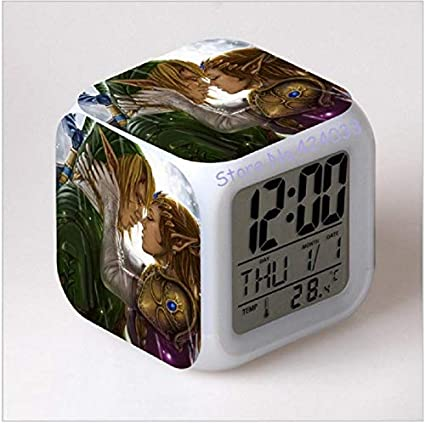 Amazon.com: horloge Digitale The Legend of Zelda Breath of The Wild Watch LED Digital Alarm Clock reloj despertador Infantil saat reveil: Home Audio & ...