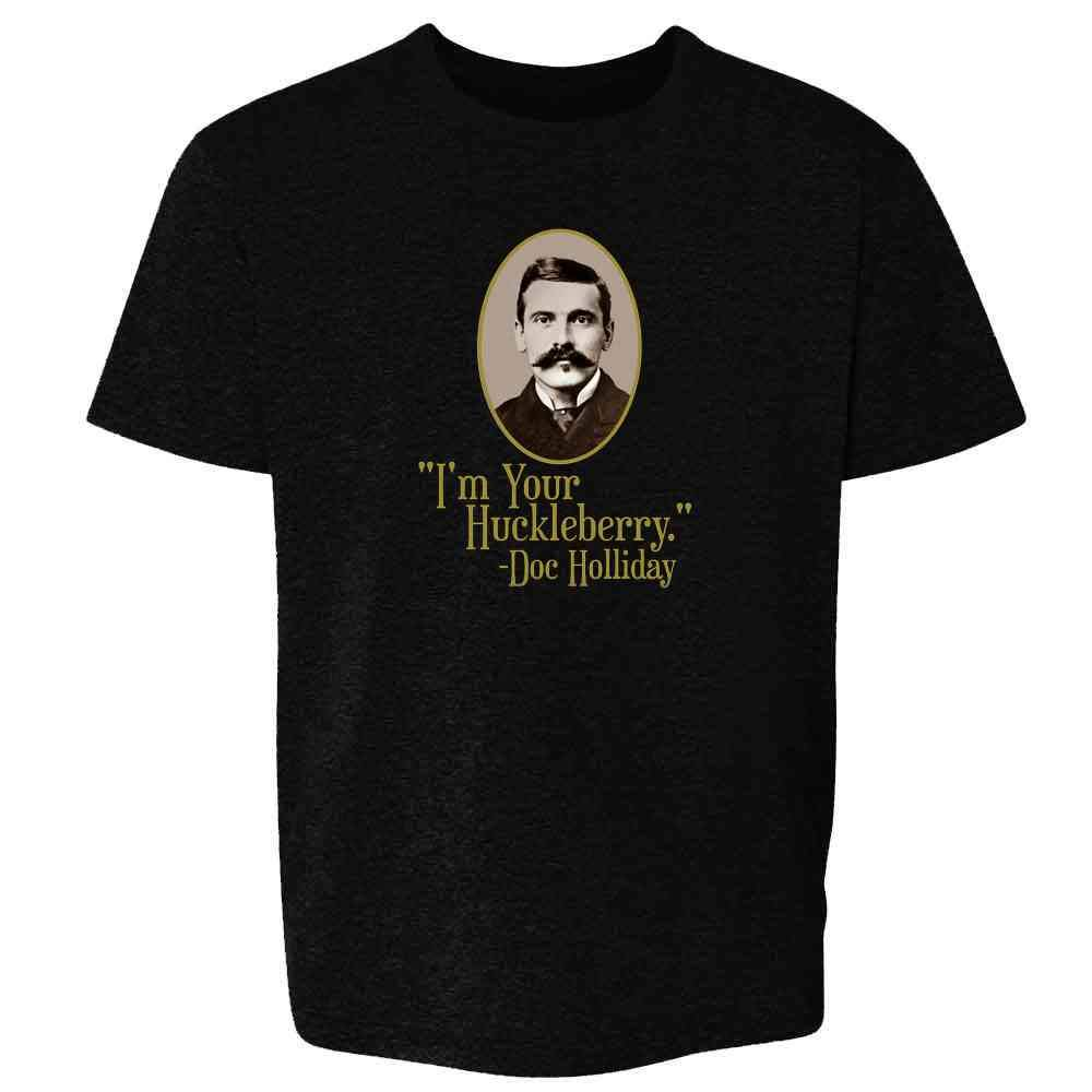 Kids and Youth Shirt Pop Threads Im Your Huckleberry Doc Holliday Western Quote Baby Bodysuit