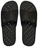 Showaflops Mens' Antimicrobial Shower & Water Sandals for Pool, Beach, Dorm and Gym - Black Slide 11/12