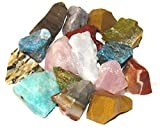 Zentron Crystal Collection: 2 Pounds Madagascar Gemstone Stone Mix for Tumbling, Cabbing, Polishing, Wicca and Reiki Healing