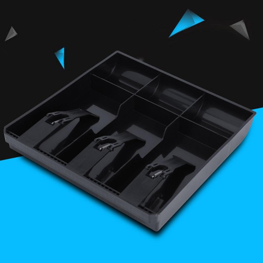 color Negro Caj/ón de soporte de dinero en efectivo Caj/ón de repuesto calidad de pl/ástico ligera conveniente 3 Facturas 3 monedas Contenedor de monedas