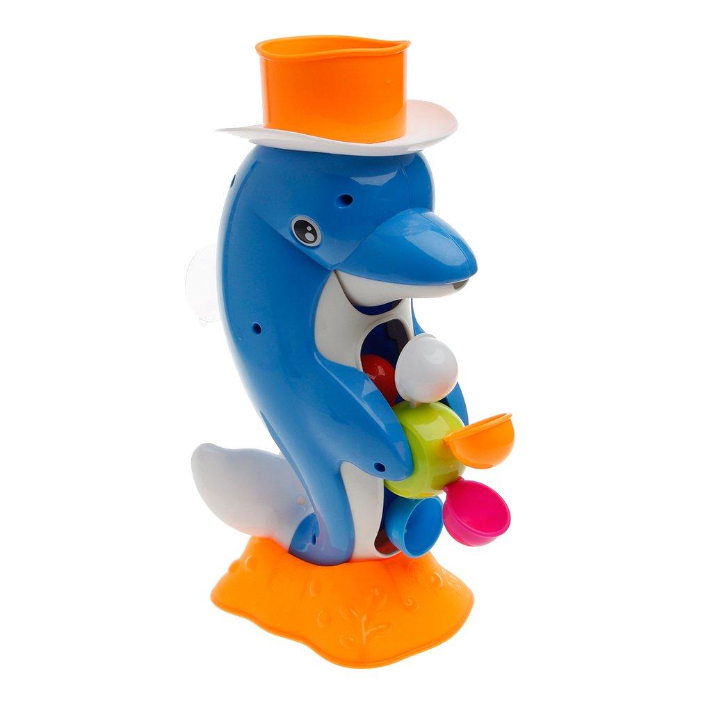 Guoyy Nettes Delphin-Bad-Duschrad-Spielzeug-Baby Scherzt Wasser-Sprühwerkzeug-Badezimmer-Geschenk